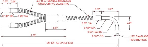Tri Tronics Fiber Optics Right Angle Barrel Tip Light Guide
