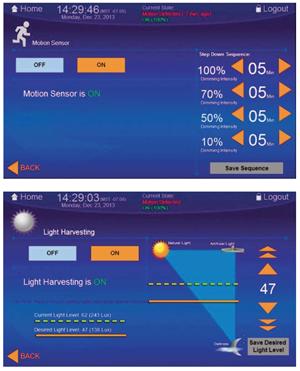 Dialight LED Lighting wall controller - motion sensor, light harvesting display