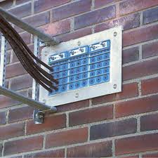 Roxtec cable entry system for brick wall